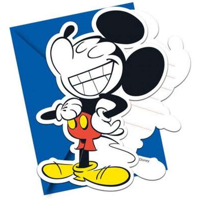 """Zaproszenia urodzinowe """"Mickey Super Cool"""", PROCOS, 6 szt"""
