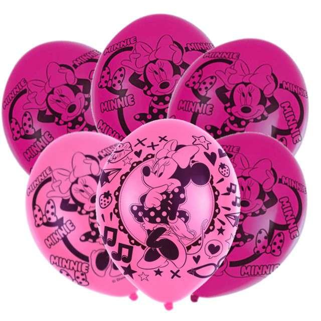 """Balony """"Minnie Mouse"""", mix, AMSCAN, 11"""" 6 szt"""