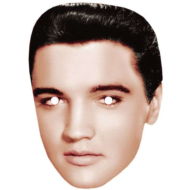 "Maska ""Elvis Presley"", papierowa, FunnyFashion"