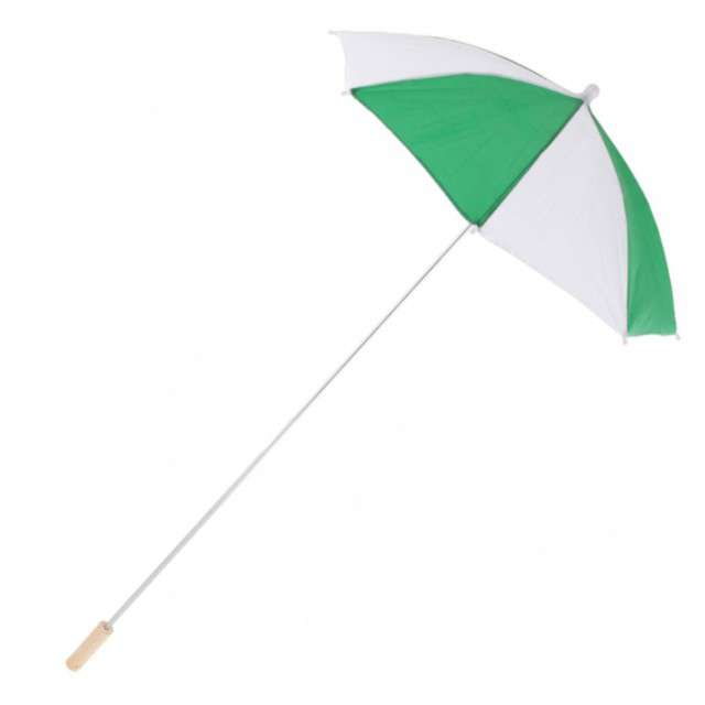 "Parasol ""Long Party"", zielony, FunnyFashion, 105 cm"