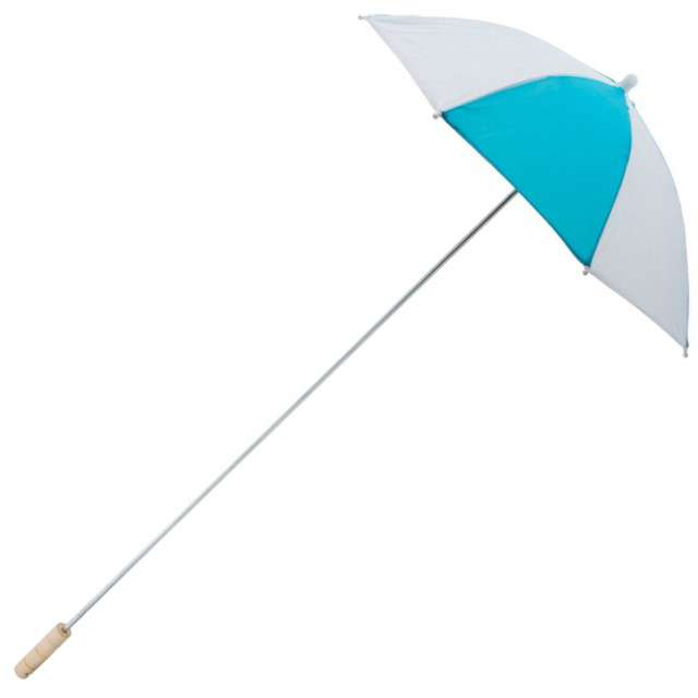 "Parasol ""Long Party"", turkusowy, FunnyFashion, 105 cm"