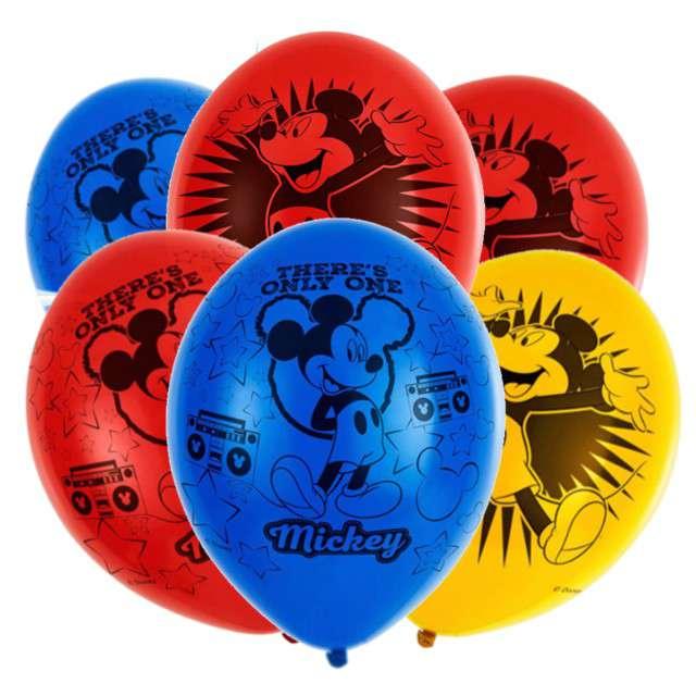 """Balony """"Mickey Mouse"""", mix, AMSCAN, 11"""" 6 szt"""