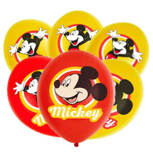 "Balony ""Mickey Mouse"", mix, AMSCAN, 11"" 6 szt"