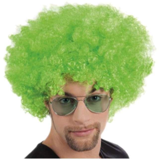 """Peruka party """"Wielkie Afro """", zielona, Party Tino"""