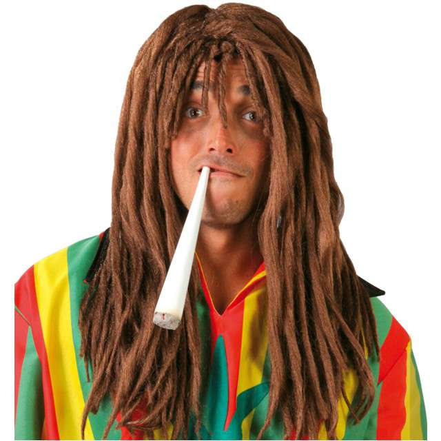 "Peruka party ""Bob Marley Rasta"" brązowy, GUIRCA"