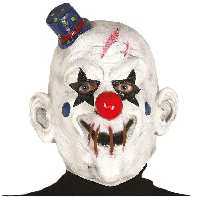 "Maska ""Klaun z cyrku widmo"", lateksowa, GUIRCA"