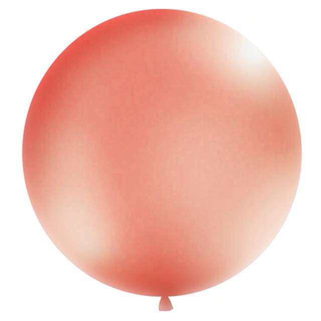 Balon Gigant Metallic  różowo-złoty 1 metr Partydeco