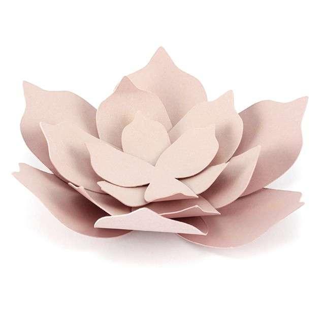 """Dekoracja """"Kwiat 3D"""", papierowa, różowy pudrowy, PartyDeco, 3 szt"""