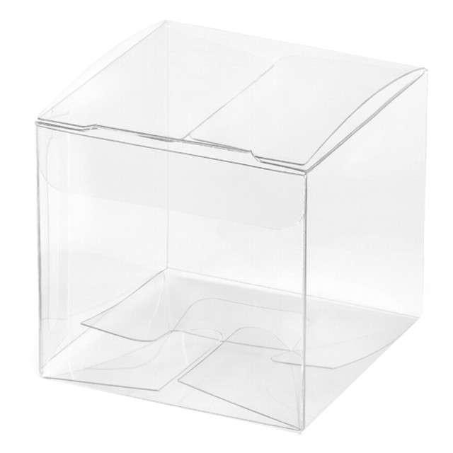 """Pudełeczka dla gości """"Gift Box"""", transparentne, PartyDeco, 10 szt"""