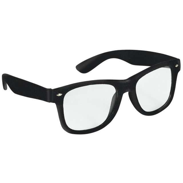 """Okulary party """"Nerd"""", czarny, AMSCAN"""