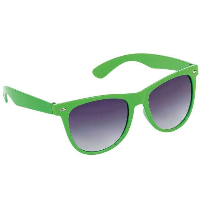 "Okulary party ""Nerd"", zielony, AMSCAN"