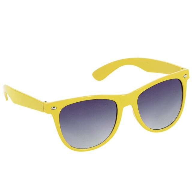 "Okulary party ""Nerd"", żółty, AMSCAN"