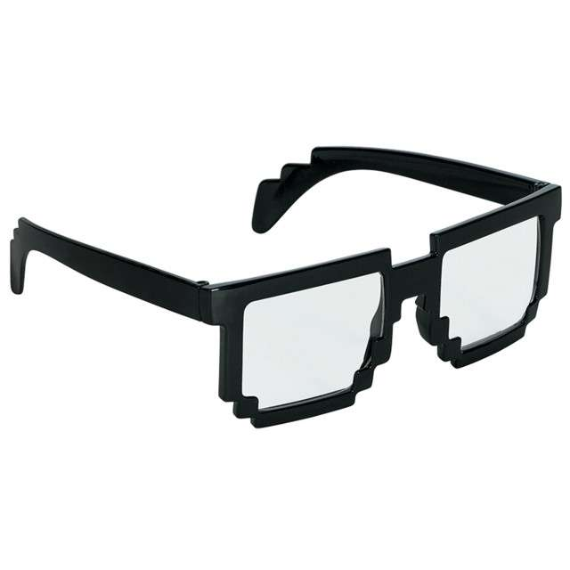 """Okulary party """"8 Bit Pixel"""", czarny, AMSCAN"""