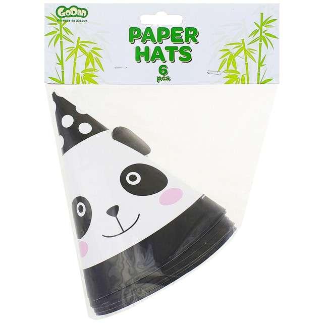 Czapeczki papierowe Panda GODAN 6 szt
