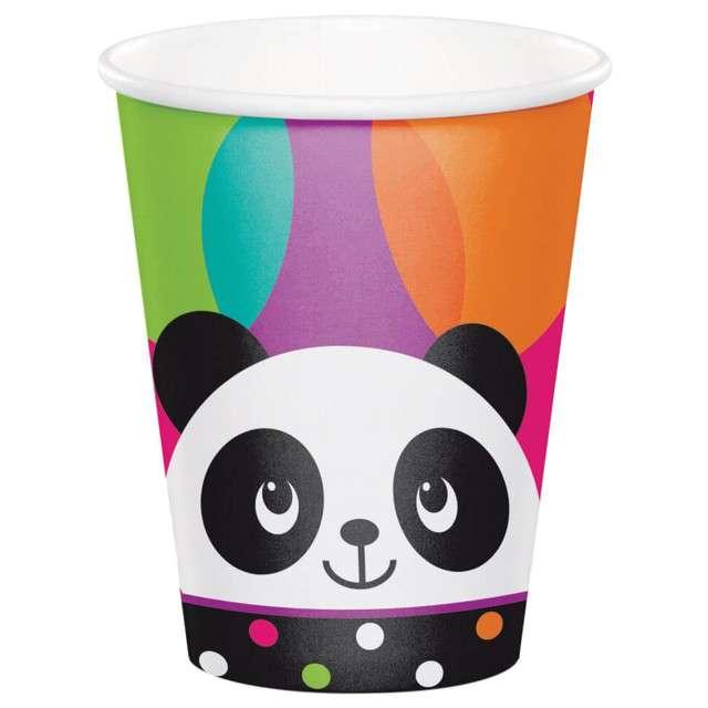"Kubeczki papierowe ""Panda"", Creative Converting, 266ml, 8 szt"
