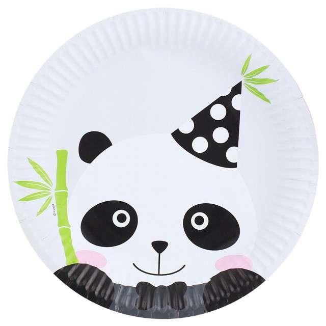 """Talerzyki papierowe """"Panda"""", GODAN, 18 cm, 6 szt"""