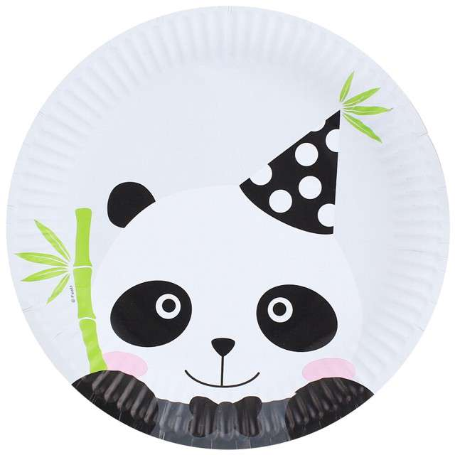 """Talerzyki papierowe """"Panda"""", GODAN, 23cm, 6 szt"""