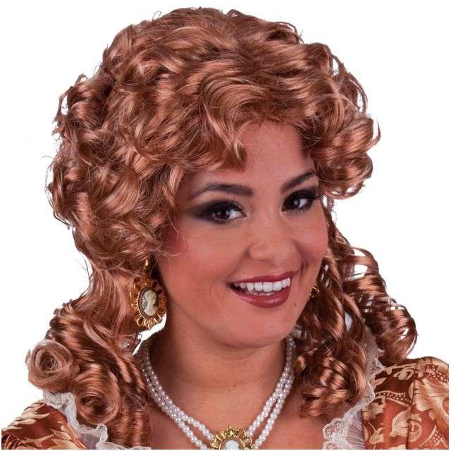 """Peruka """"Królowa Emma"""", brązowa, FUNNY FASHION"""