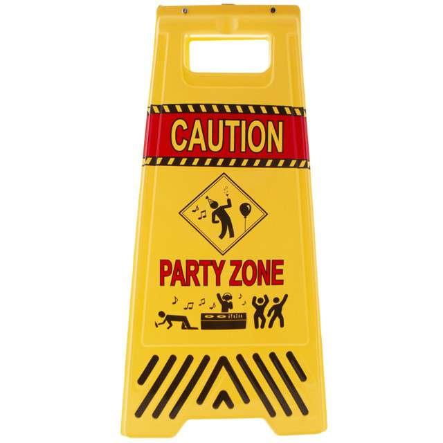 """Dekoracja """"Znak Party Zone"""", Funny Fashion, 48 cm"""