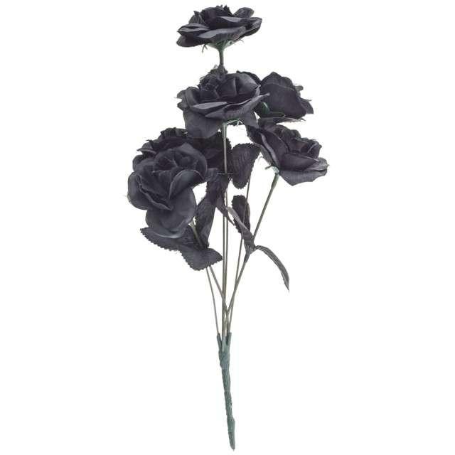 Dekoracja Bukiet Róża czarny FunnyFashion 6 szt