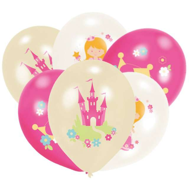 """Balony """"Księżniczka"""", mix, AMSCAN, 11"""" 6 szt"""