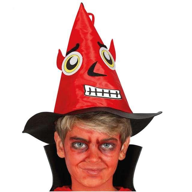 """Kapelusz """"Diabeł"""", czerwony, GUIRCA"""