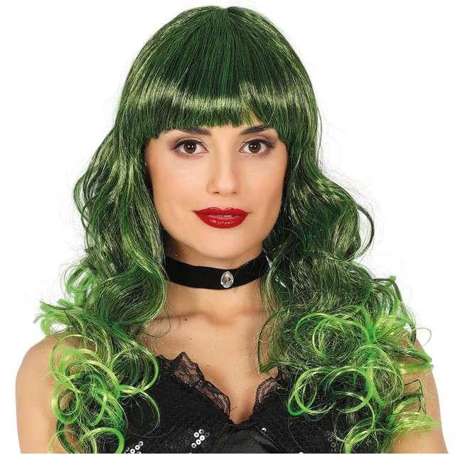 """Peruka party """"Medusa"""", zielona, GUIRCA"""
