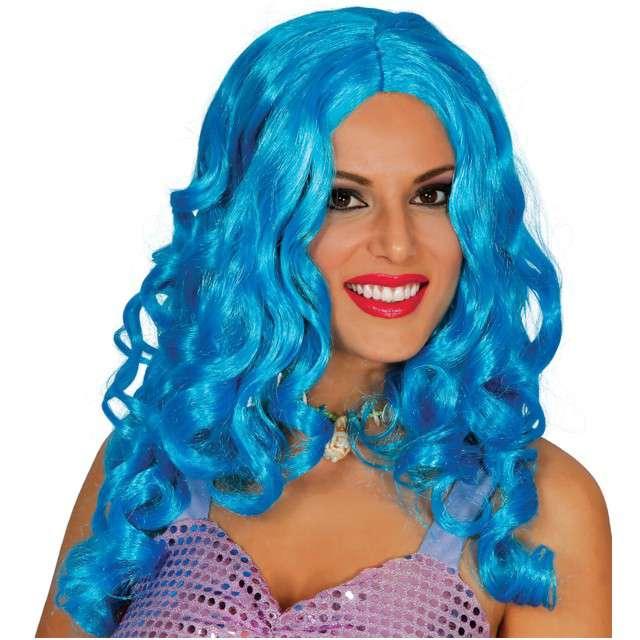 "Peruka party ""Syrena Marina"", niebieska, GUIRCA"