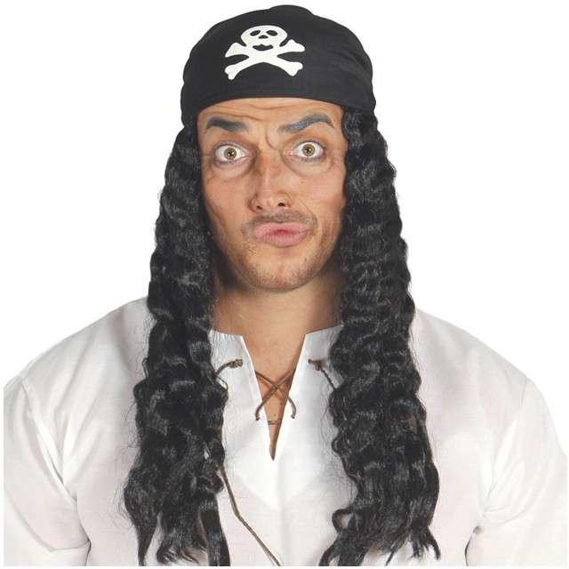 Peruka party Pirat z opaską czarna GUIRCA