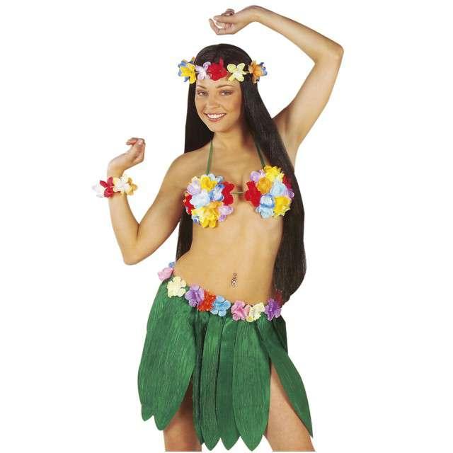 Spódnica Hawajska z liści zielona WIDMANN 40 cm