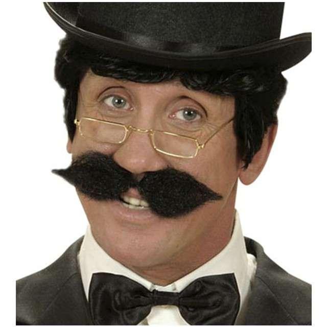 Wąsy party Gentelman czarne WIDMANN