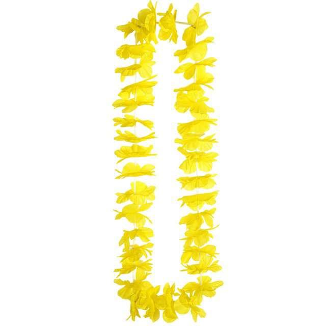 """Naszyjnik Hawajski """"Hawaian"""", żółty, WIDMANN, 90 cm"""