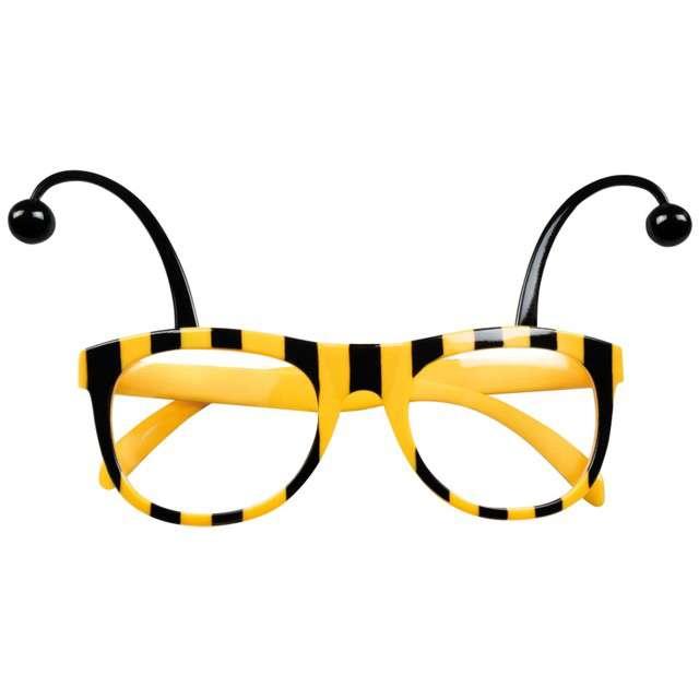 """Okulary party """"Pszczółka"""", żółte, BOLAND"""