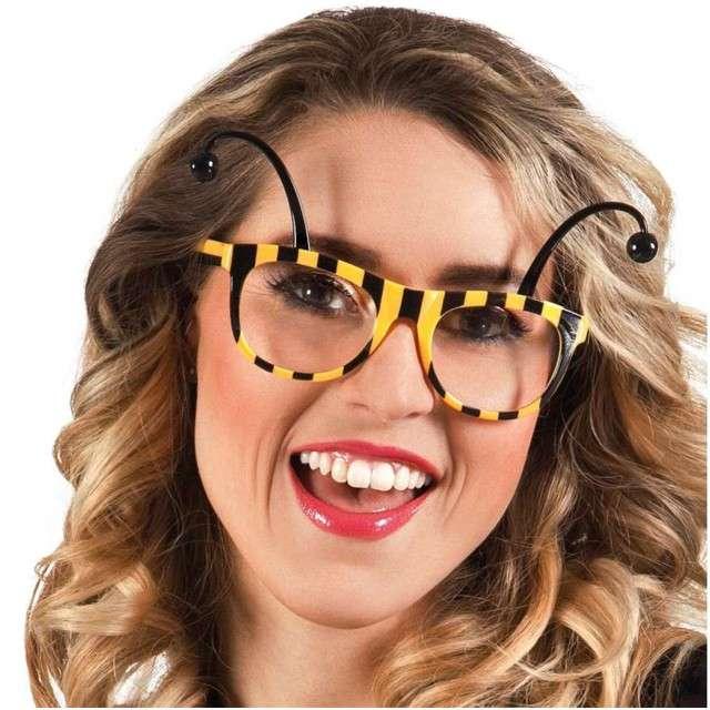 Okulary party Pszczółka żółte BOLAND