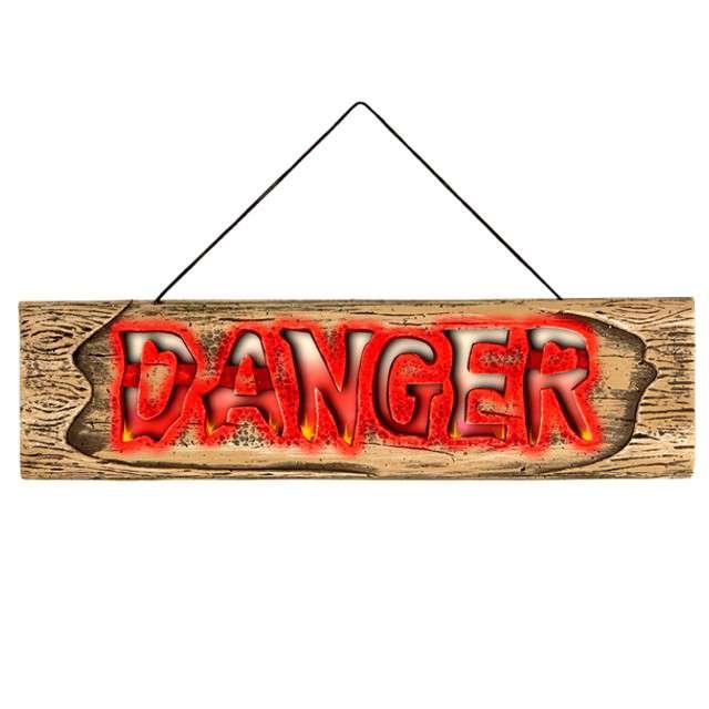 "Dekoracja ""Tabliczka Danger"", WIDMANN, 45 cm"