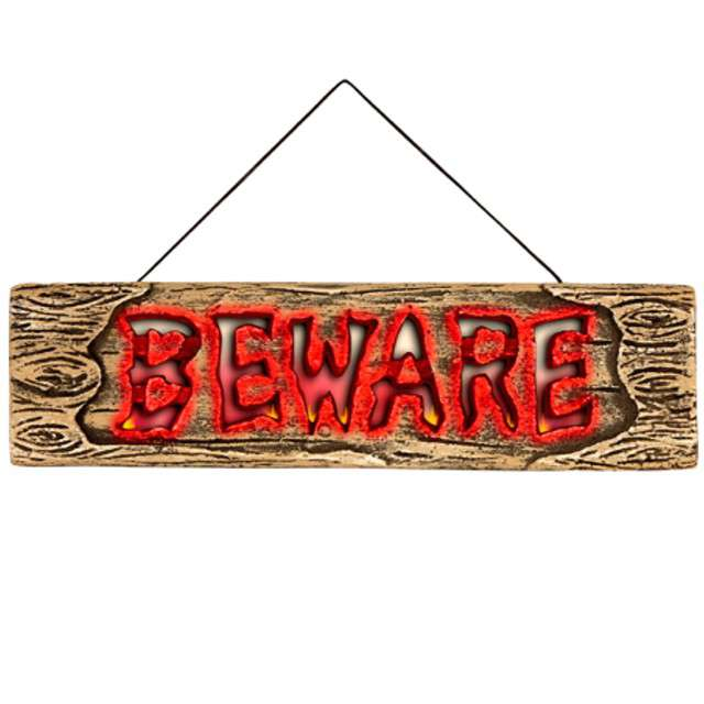 """Dekoracja """"Tabliczka Beware"""", WIDMANN, 45 cm"""