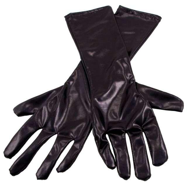 """Rękawiczki """"Retro Metaliczne"""", czarne, FOLAT, 40 cm"""