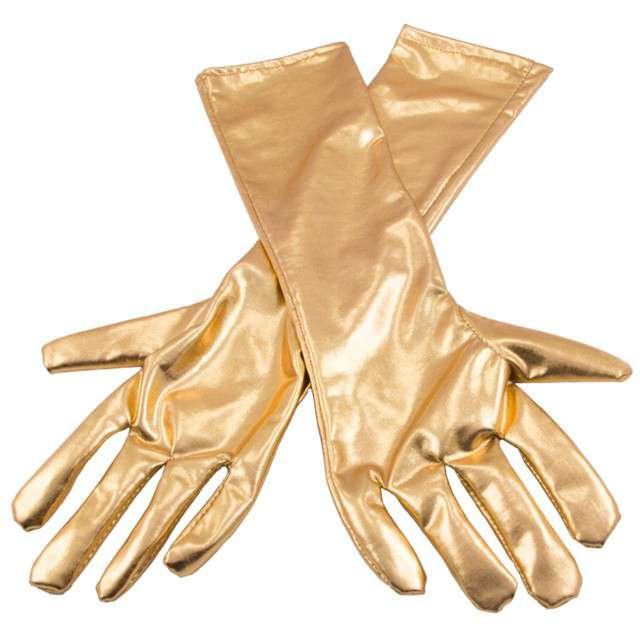 """Rękawiczki """"Retro Metaliczne"""", złoty, FOLAT, 40 cm"""