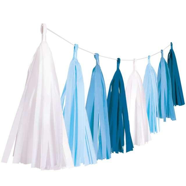 Girlanda Frędzle niebieski AMSCAN 304 cm