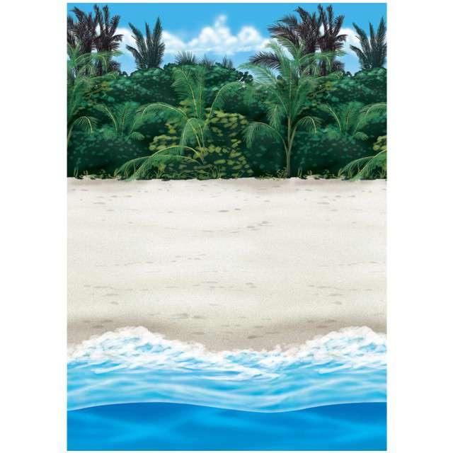 """Dekoracja wisząca """"Plaża - tło fotograficzne"""", AMSCAN, 12 m"""