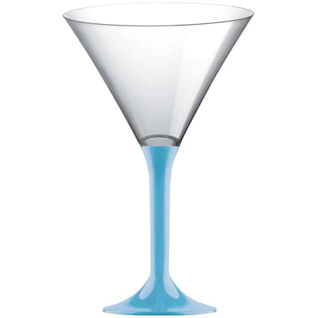 """Kieliszki jednorazowe """"Martini Aperitif"""", turkusowe, GoldPlast, 185 ml, 6 szt"""