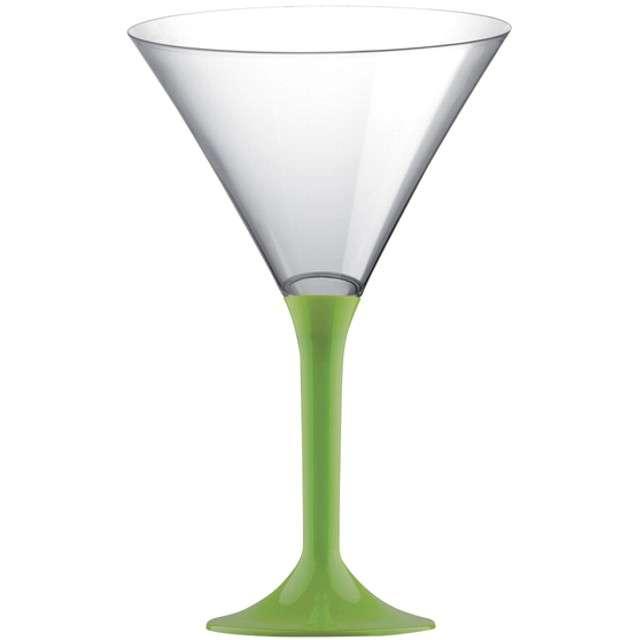 """Kieliszki jednorazowe """"Martini Aperitif"""", zielone jasne, GoldPlast, 185 ml, 6 szt"""