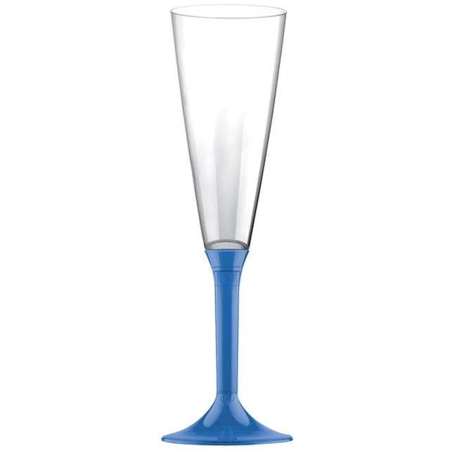 """Kieliszki jednorazowe """"Szampan Classic"""", niebieskie, GoldPlast, 160 ml, 10 szt"""