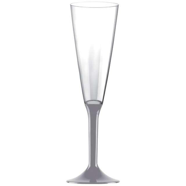 """Kieliszki jednorazowe """"Szampan Classic"""", szare, GoldPlast, 160 ml, 10 szt"""