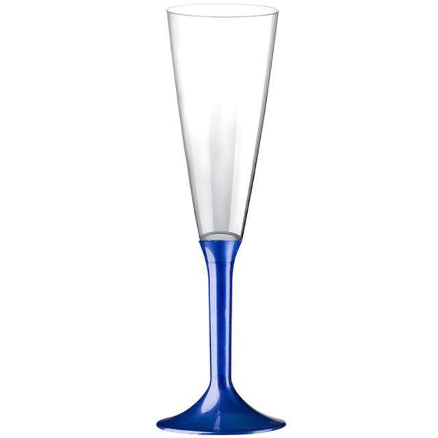 """Kieliszki jednorazowe """"Szampan Classic"""", niebieskie perłowe, GoldPlast, 160 ml, 10 szt"""