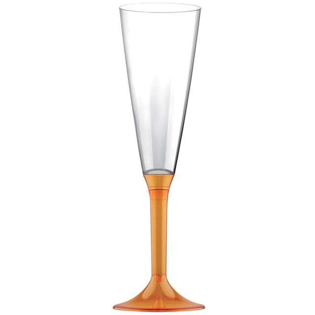 """Kieliszki jednorazowe """"Szampan Classic"""", pomarańczowe, GoldPlast, 160 ml, 10 szt"""