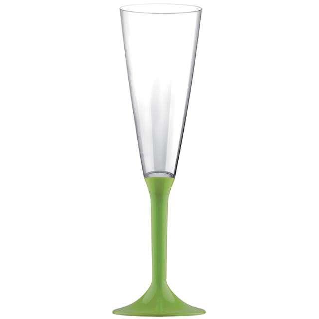 """Kieliszki jednorazowe """"Szampan Long XL"""", zielone jasne, GoldPlast, 160 ml, 10 szt"""