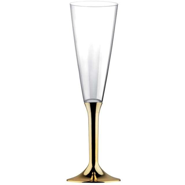 """Kieliszki jednorazowe """"Szampan Classic"""", złoty chrom, GoldPlast, 160 ml, 6 szt"""