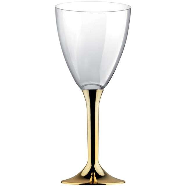 """Kieliszki jednorazowe """"Wino Classic"""", złoty chrom, GoldPlast, 180 ml, 6 szt"""