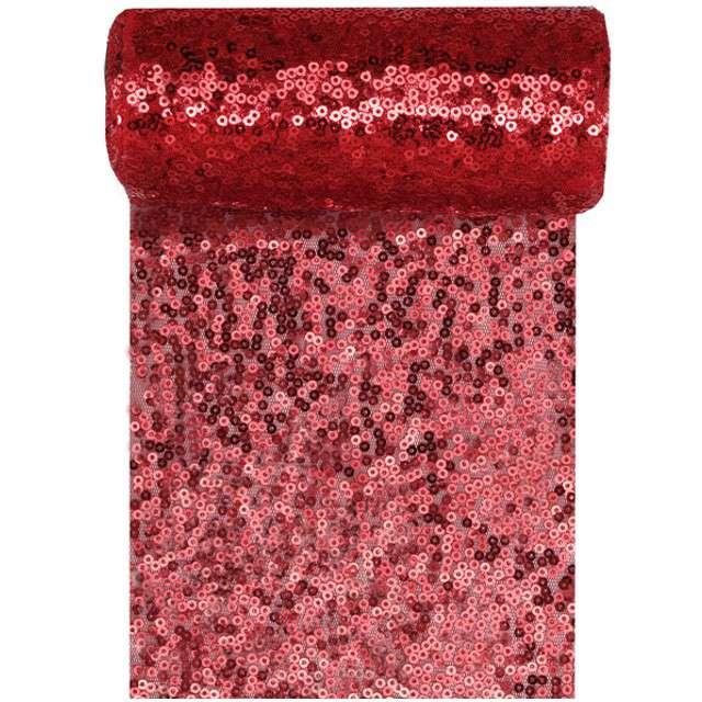 Bieżnik Cekiny czerwony SANTEX 300 x 14 cm
